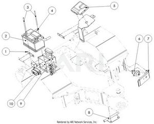 LM Trac 387 Takarunkoon kiinnitettäviä osia