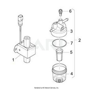 LM Trac 287 Fuel lift pump and prefilter