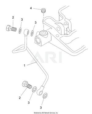 LM Trac 287 Oil pipe
