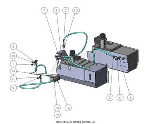 LM Trac 287 Hand pump for hydraulical bonnet