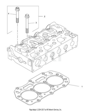 LM Trac 287 Cylinder head gasket and bolts
