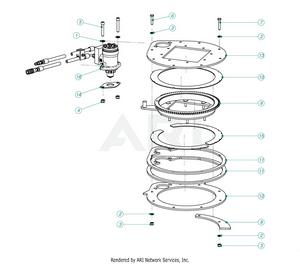 LM Trac Leaf Blower Turning Mechanism