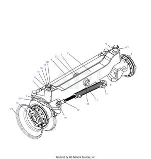 LM Trac 286 Rear Axle 4WD