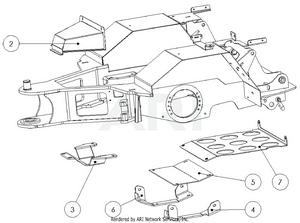 LM Trac 387 Rear frame shields