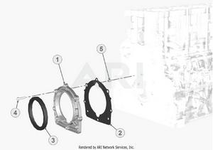LM Trac 387 Flywheel side support