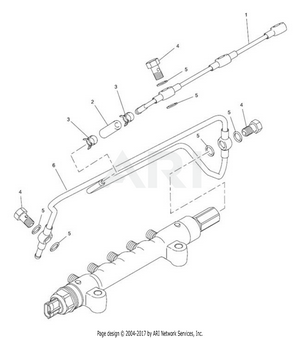 LM Trac 287 Fuel Leak-off pipe