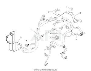 LM Trac 287 Engine wiring harness