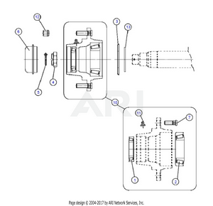 LM Trac 287 Rear pivot, FWD