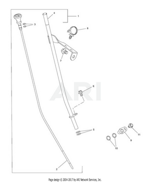 LM Trac 287 Oil dipstick