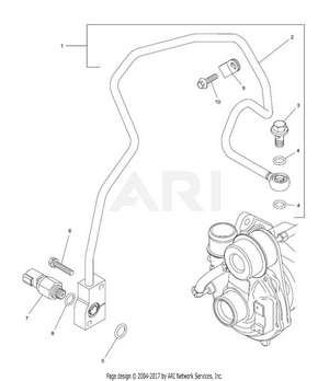 LM Trac 287 Turbocharger oil feed pipe