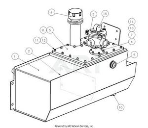 LM Trac 287 Hydraul oil tank