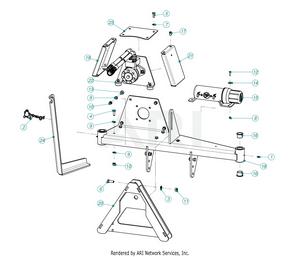 LM Trac Leaf Blower Frame