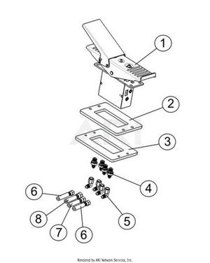 LM Trac 287 Drive pedal