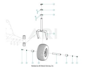 LM Trac Leaf Blower Castor Wheel
