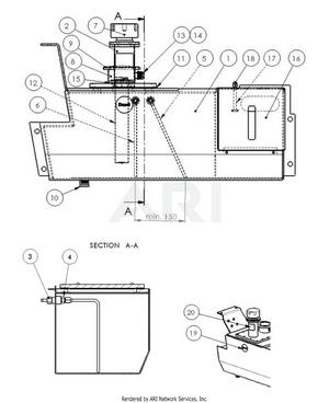 LM Trac 287 Fuel tank