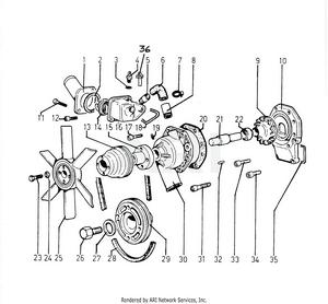 LM Trac 285 Water Pump