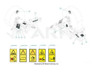 LM Trac Leaf Blower Sticker Set