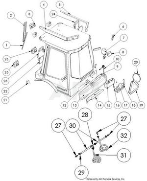 LM Trac 387 Cabin accessories