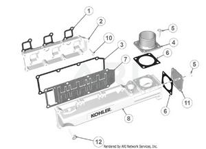 LM Trac 387 Air inlet manifold