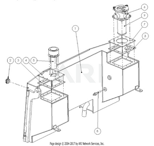 LM Trac 387 Hydraulic oil tank