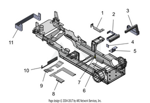 LM Trac 287 Parts that are attached to the frame