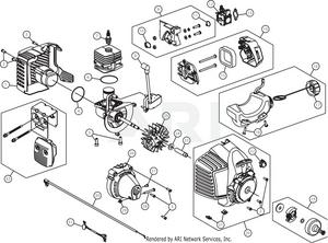 mtd h2500 41bdz01c735 engine assembly