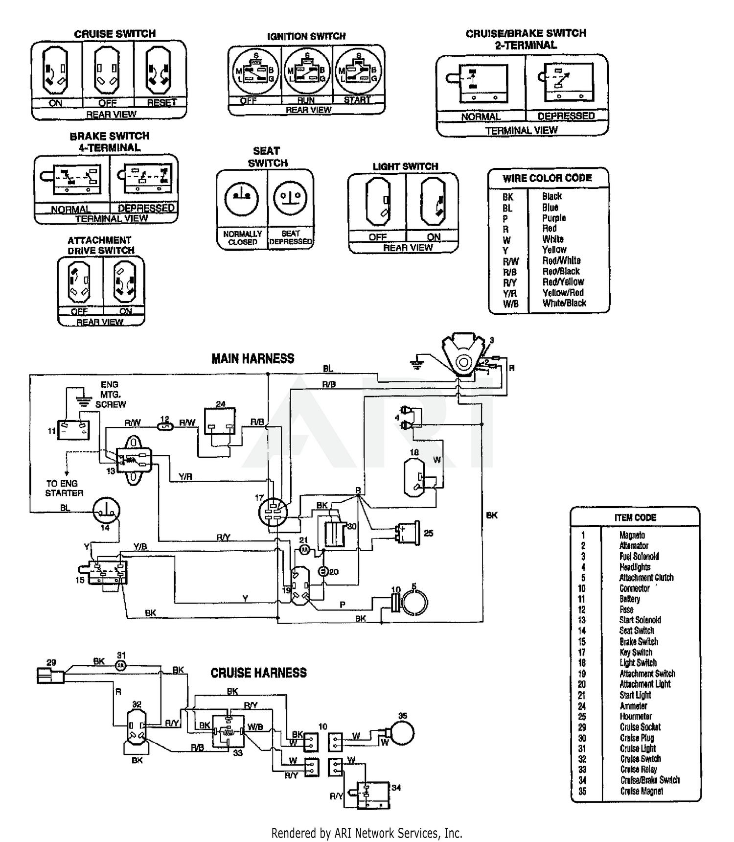 Troy Bilt 13039 16hp Hydro Garden Tractor S N 130390100101 Wiring Diagram