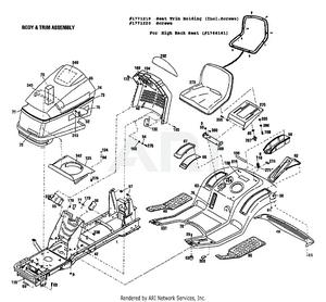 [QNCB_7524]  Troy-Bilt 13040 18hp Hydro Garden Tractor (S/N 130400100101)    PartsWarehouse   Roper Tractor Wiring Diagram      Parts Warehouse