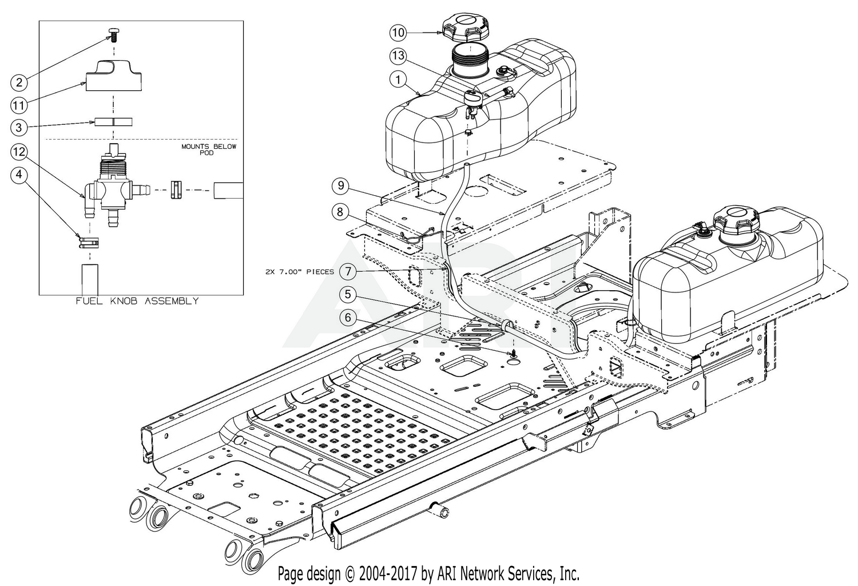 Cub Cadet Pro Z 100 Kw 160 S 53tiefju050 2018 Fuel Tank Wiring Diagram For