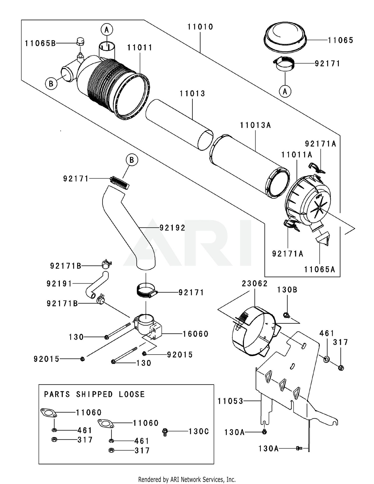 Kawasaki FH680V-DS29 Air-Filter & Muffler