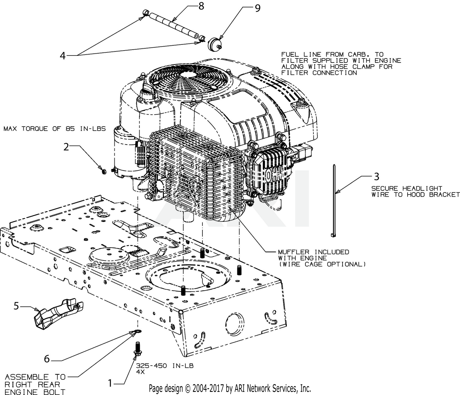 Mtd 13b2775s000 2017 Engine Accessories Diagram