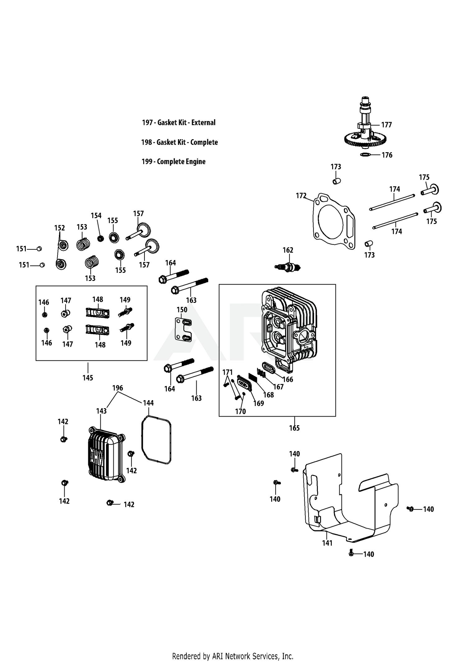 Cub Cadet 4p90jub Engine Cylinder Head Small Diagram