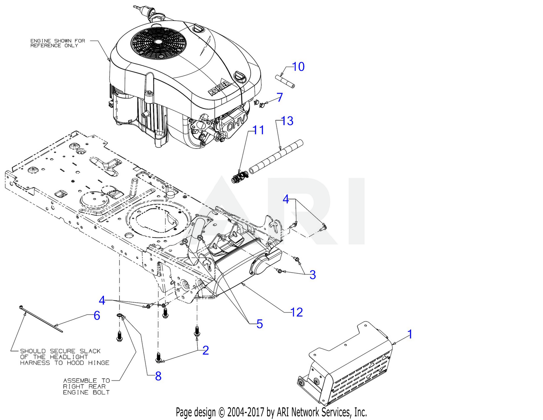 Troy Bilt 13ak78bs211 Bronco 42 Auto 2018 Engine Accessories Electrical Wiring Diagrams