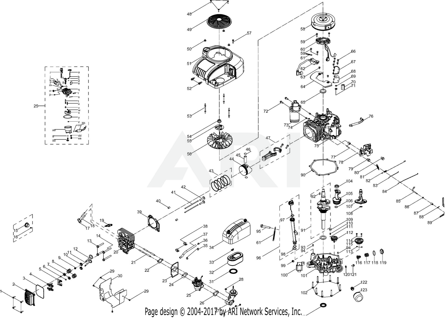 WRG-7069] Mtd 420cc Engine Parts Diagram