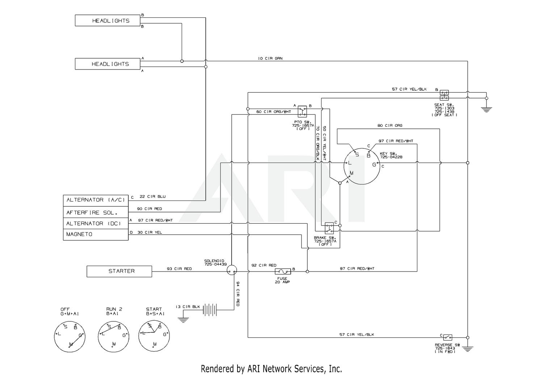 [EQHS_1162]  Troy-Bilt 13YX78KS011 Bronco (2013) Wiring Schematic | Troy Bilt Bronco Electrical Wiring Diagrams |  | Weingartz
