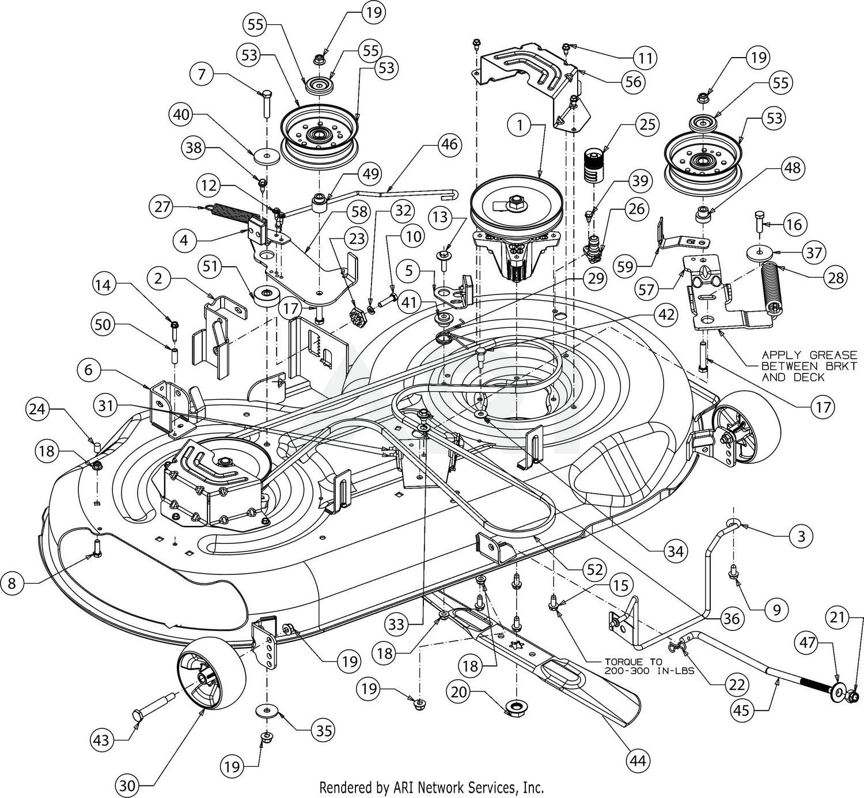bronco engine diagram troy bilt 13al78bt066 bronco 46 auto  2018  deck  troy bilt 13al78bt066 bronco 46 auto
