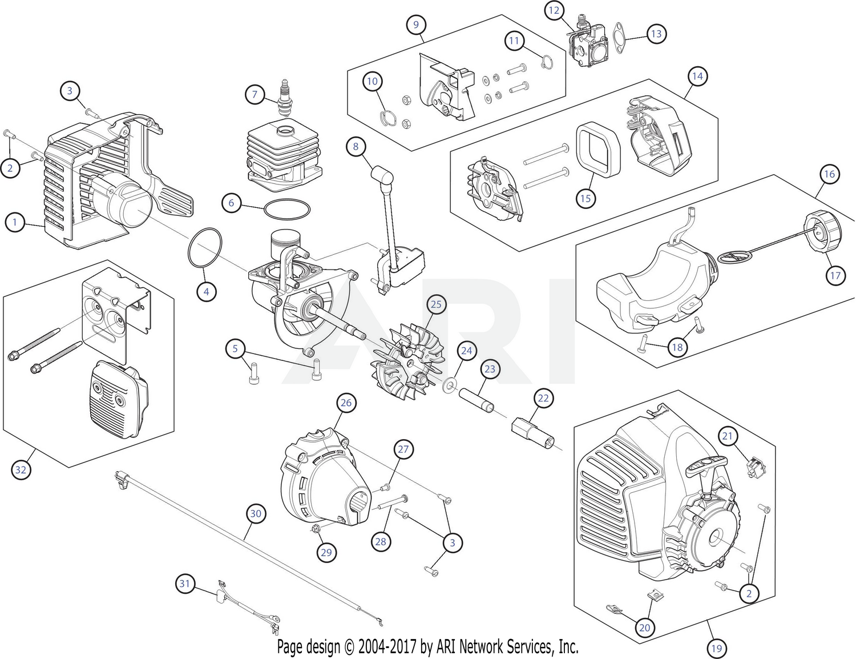 Mtd 41ddz12g799 316794471 Engine Assembly Diagram
