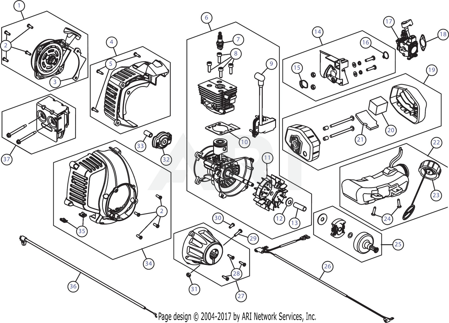 Mtd 41edz24c799 316740800 Engine Assembly Diagram