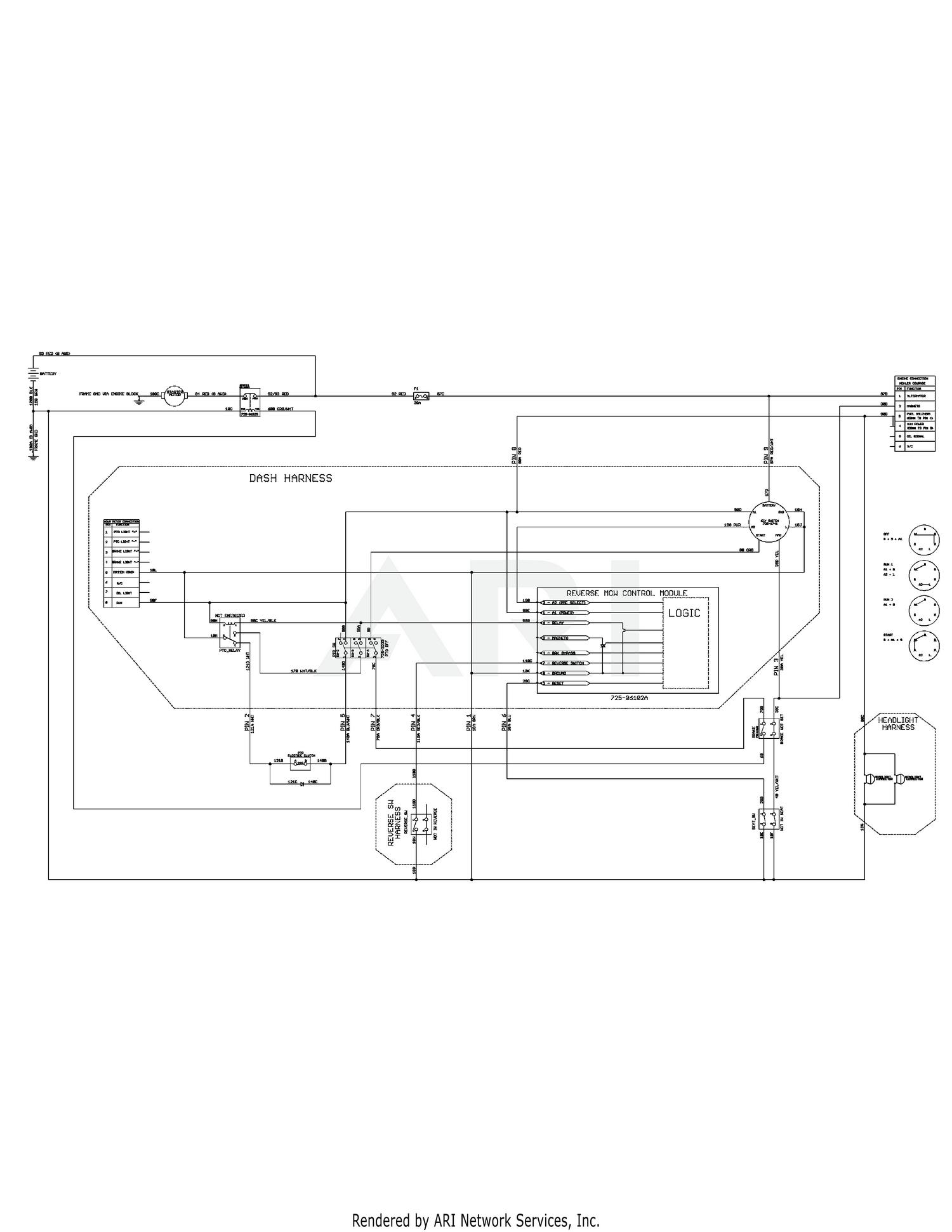 Cub Cadet XT1-LT50 Tractor (2015) 13AQA1CQ009 (2015) 13AQA1CQ010 (2015)  13AQA1CQ056 (2015) 13WQA1CQ009 (2015) 13WQA1CQ010 (2015) Electrical  Schematic - Electric PTOWeingartz