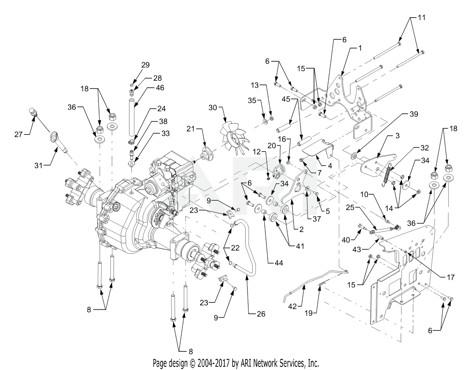Cub Cadet 3204 Tractor 14A-641-100 Transmission Mounting And Neutral on cub parts diagram, cub cadet 3184 wiring diagram, cub cadet 2166 belt diagram,