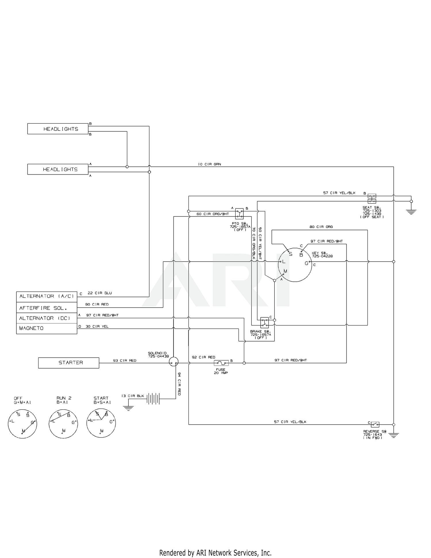 Lawn Tractor Wiring Schematic - 88 Wiring Diagram