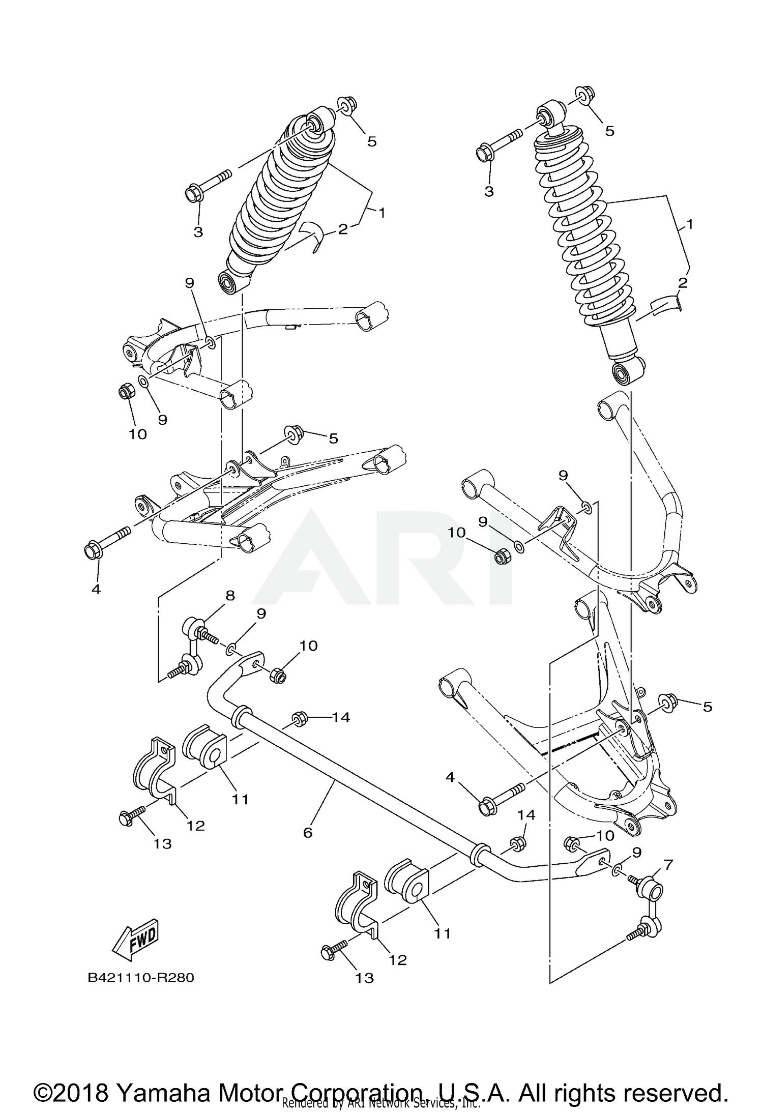 2018 Yamaha Viking VI EPS - YXC70VPXJG REAR SUSPENSION Parts