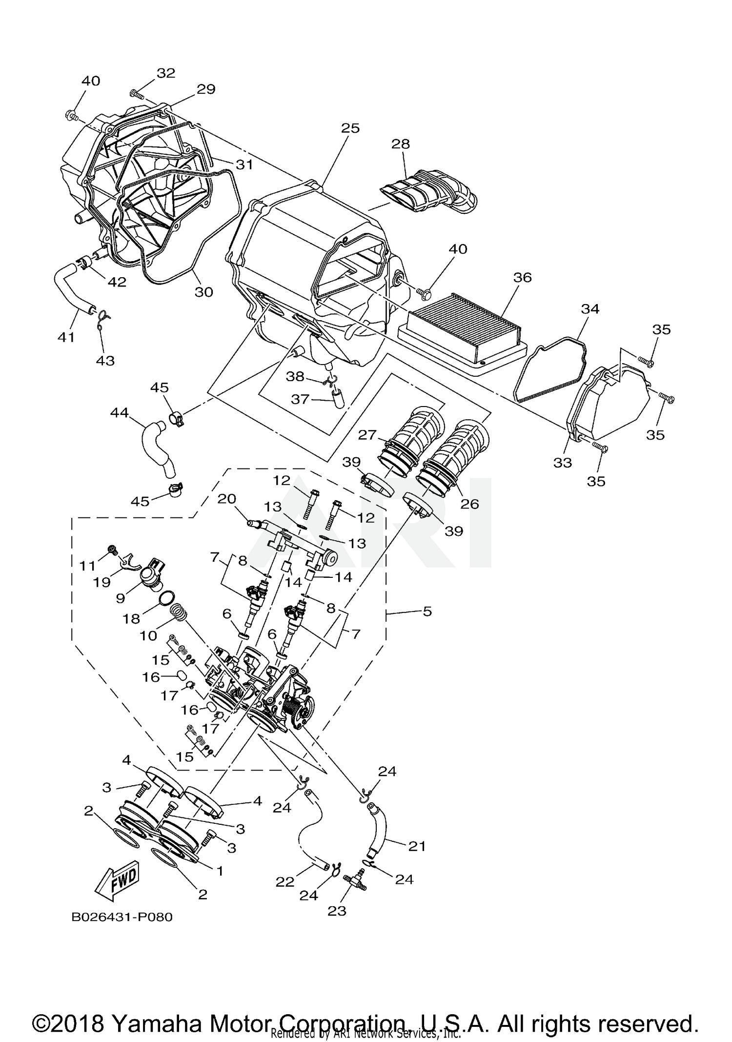 2018 Yamaha R3 - YZFR3JB INTAKE Parts - Best OEM INTAKE Parts ...