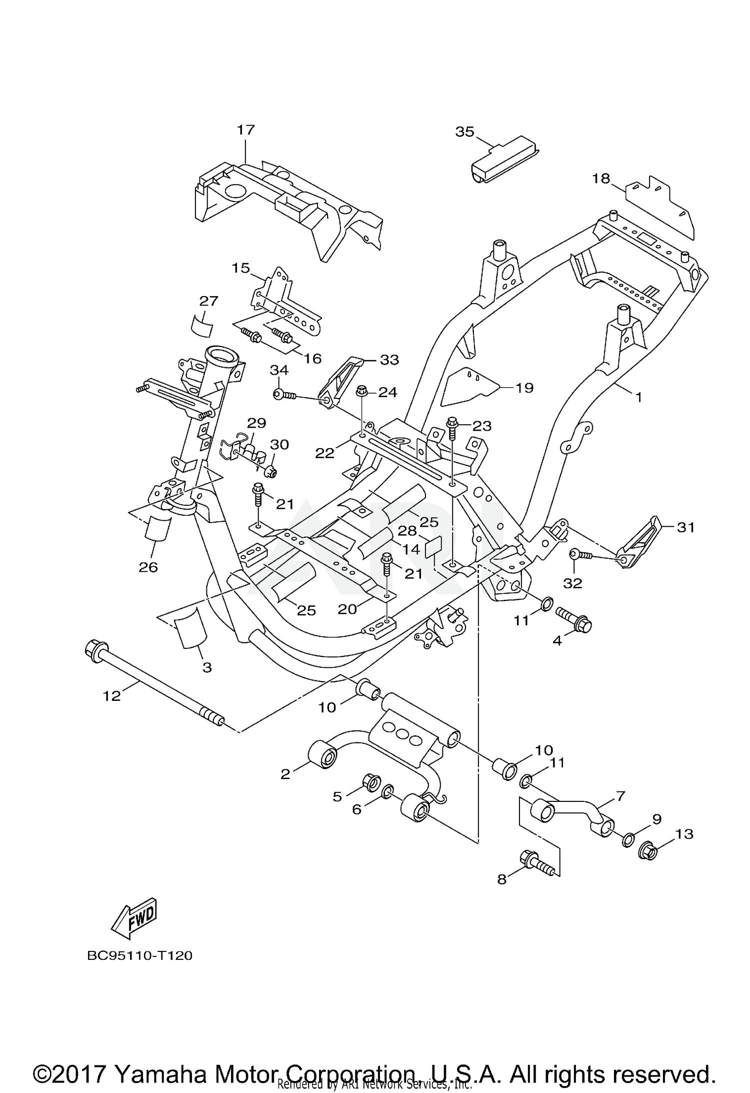 2018 Yamaha ZUMA 125 - YW125JR FRAME Parts - Best OEM FRAME
