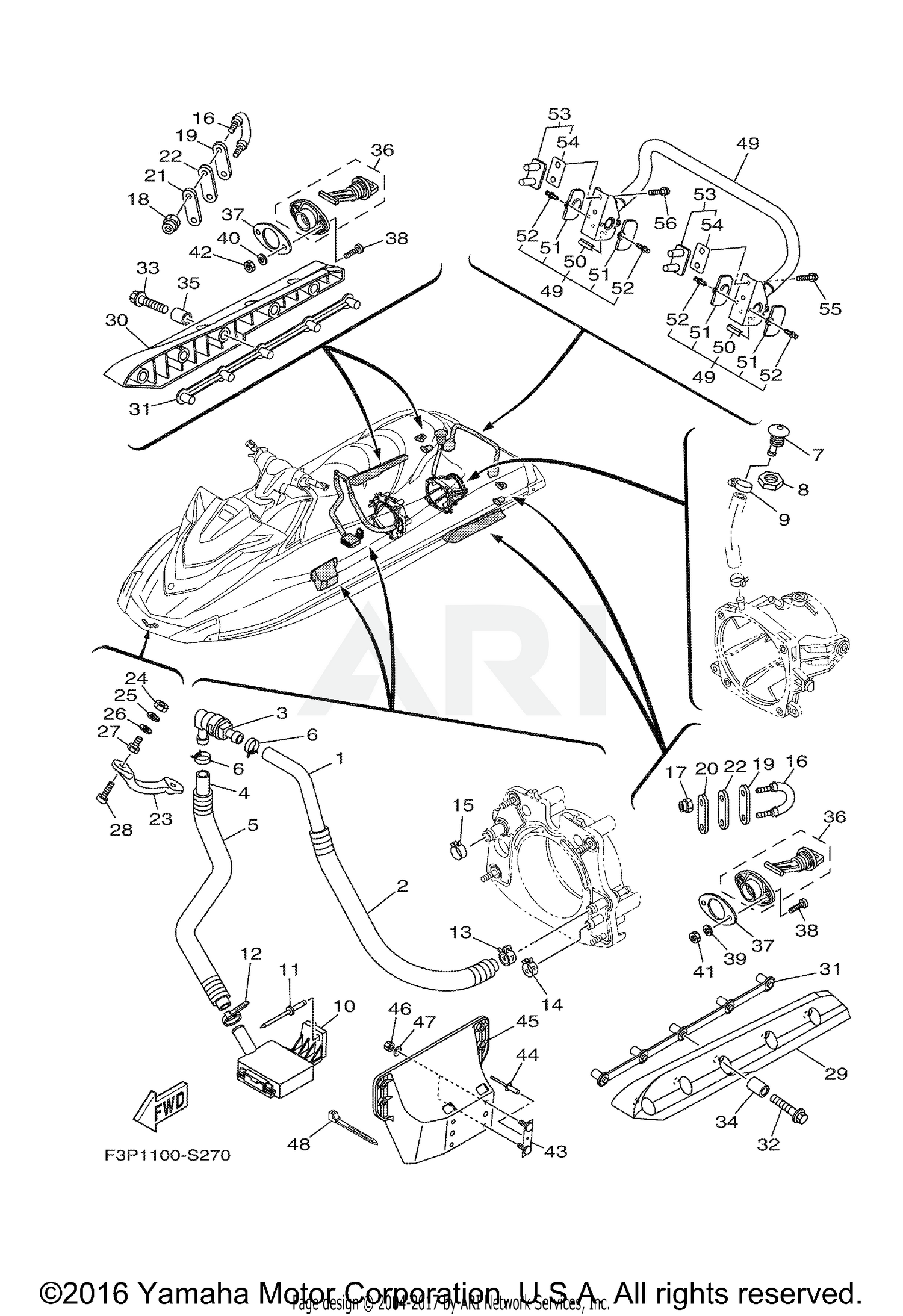 2017 yamaha gp1800 gp1800s hull deck parts best oem Example of a Gunwale schematic search results parts in schematics