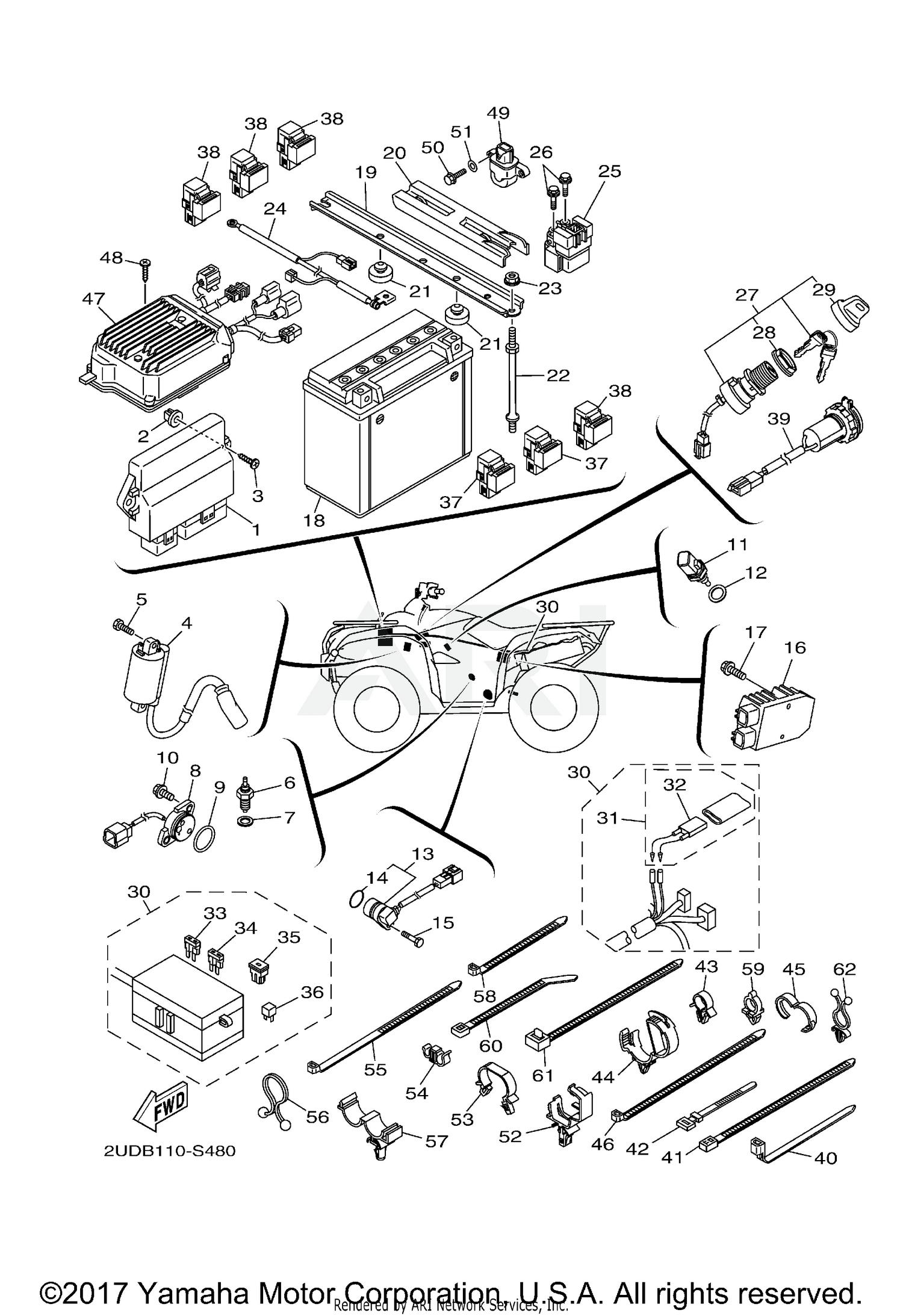 2017 Yamaha Grizzly 700 Wiring Diagram - Wiring Diagram
