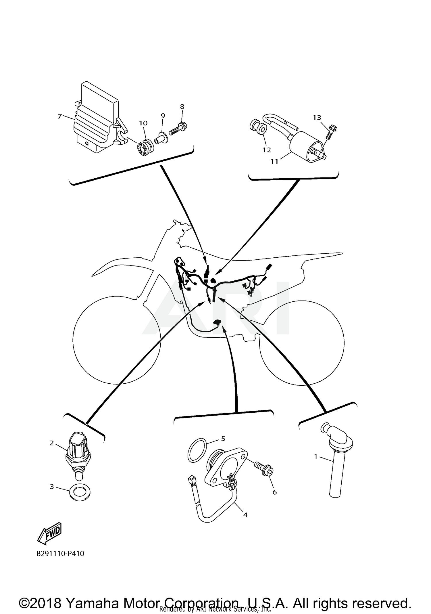 2018 Yamaha WR450F - WR450FJ ELECTRICAL 1 Parts & OEM Diagram for  Motorcycles | Wr450f Wiring Diagram |  | Bike Bandit