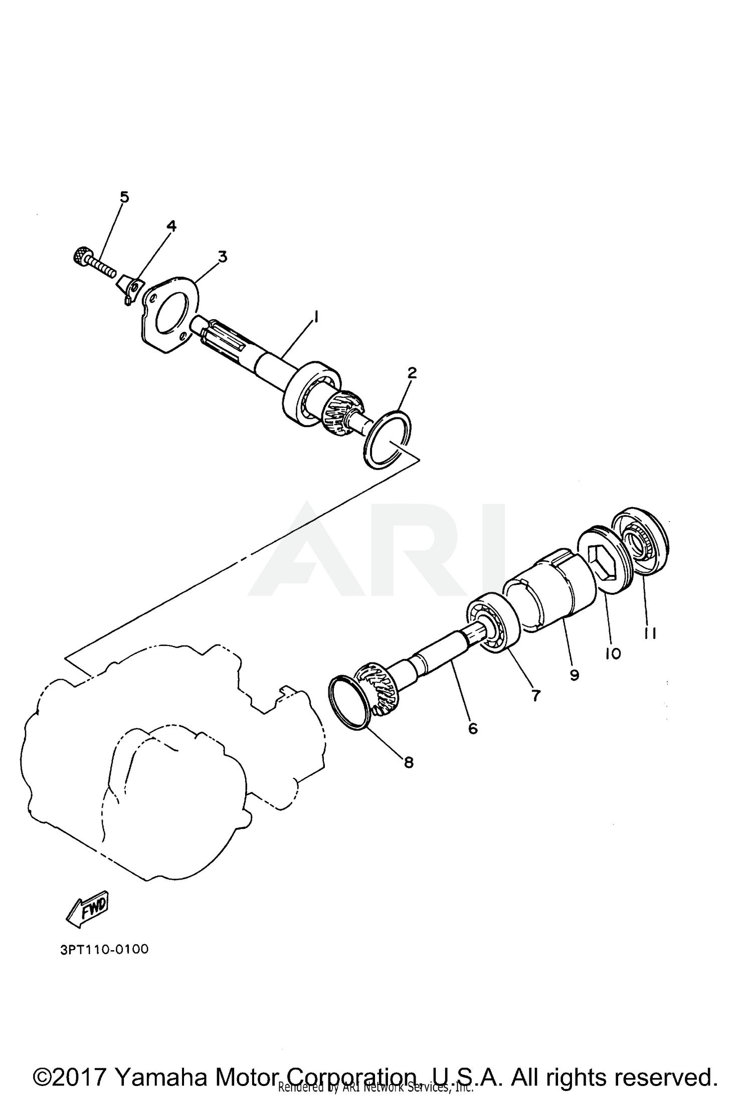 2018 Yamaha Pw50 Pw50j2 Transmission Parts Oem Diagram For Motorcycles